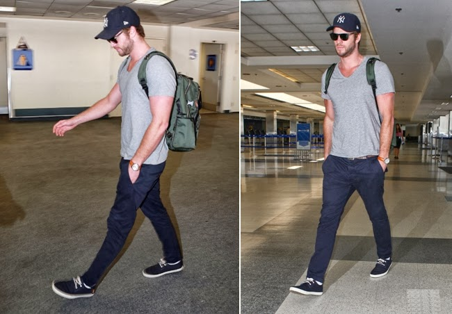 El actor luce un look casual con mochila