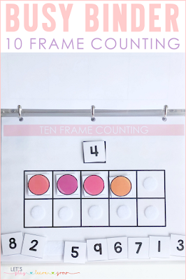 10 Frame Counting Busy Binder Activity