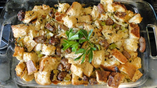 Old Fashioned Turkey Stuffing With Sausage