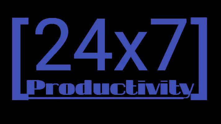 24x7 productivity logo design 3
