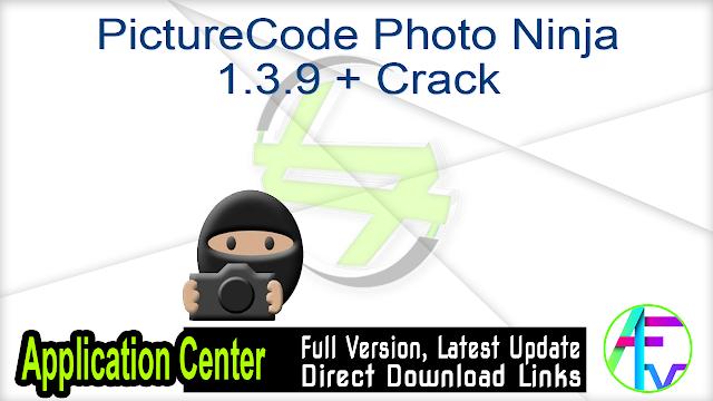 PictureCode Photo Ninja 1.3.9 + Crack