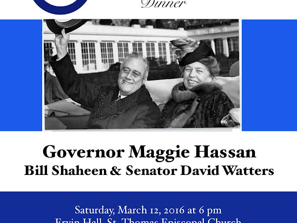9th Annual Franklin & Eleanor Dinner, March 12th 6-9 pm, Ervin Hall