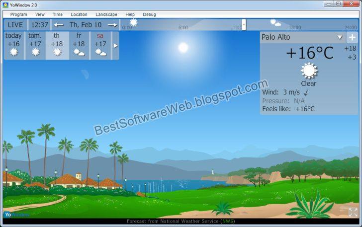 Beautiful Screen Saver, YoWindow 4 build 63 Download Free for Windows