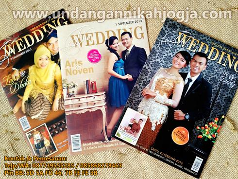 Undangan pernikahan softcover model majalah