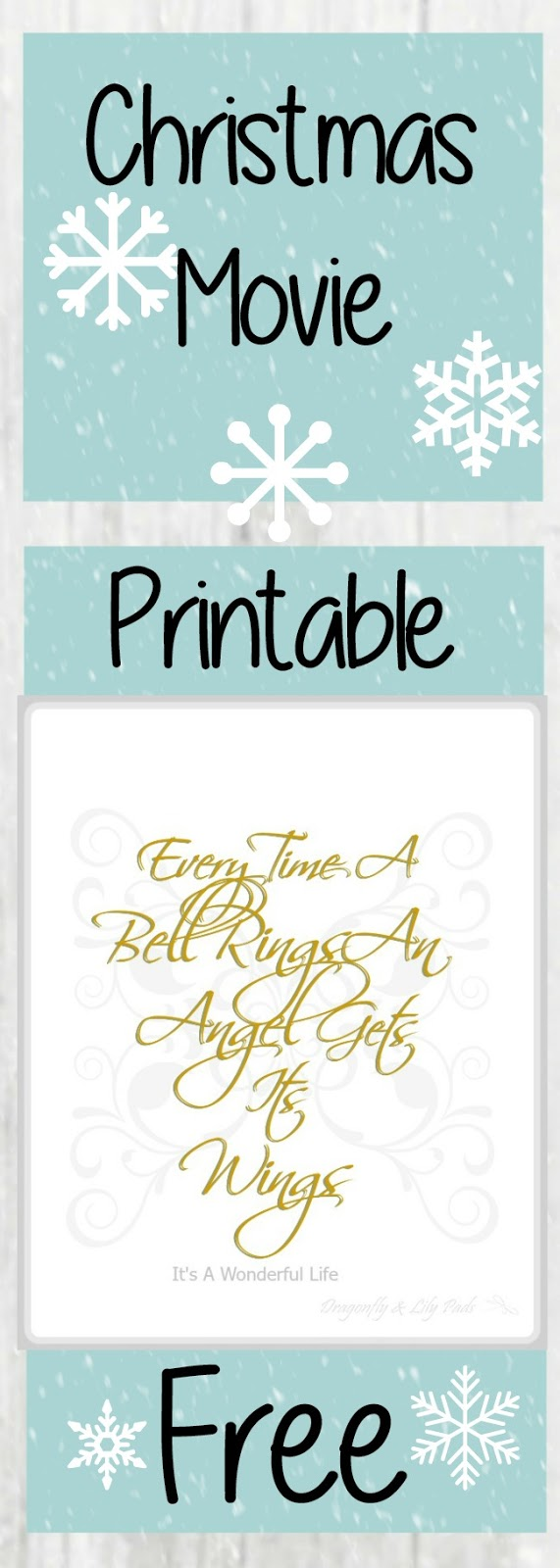 Christmas Movie Free Printable for personal use only