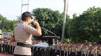Polres Majalengka Gelar Apel Pergeseran Pasukan Pam TPS Pemilu 2019