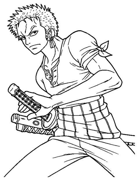 coloring pages one piece | Halloween Coloring Pages: Anime Manga One Piece Coloring ...