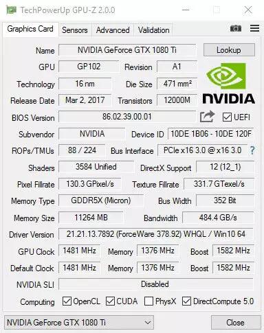 برنامج GPU-Z
