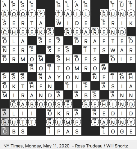 Rex Parker Does The Nyt Crossword Puzzle Funny Girl Role For Which Barbra Streisand Won Oscar Mon 5 11 20 Many Craft Brews For Short Tv Journalist Curry Complete Double Play In Baseball Slang