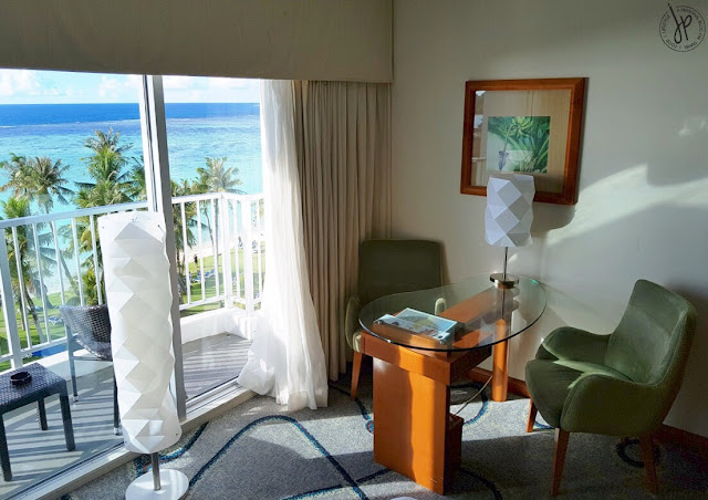 ocean view room with balcony