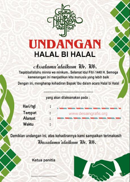 Contoh Desain undngan halal bihalal cdr