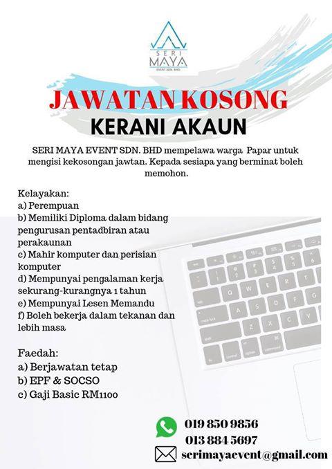Kerja Kosong Sabah 2019 Kerani Akaun Papar Jawatan Kosong Terkini Negeri Sabah