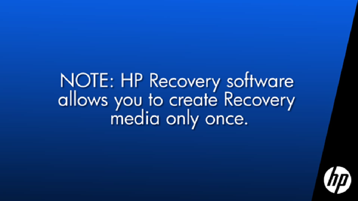 CREATE SYSTEM RECOVERY MEDIA ON HP RECOVERY MANAGER-WINDOWS 7