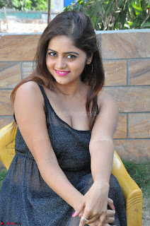 Pragya Nayan New Fresh Telugu Actress Stunning Transparent Black Deep neck Dress ~  Exclusive Galleries 061.jpg