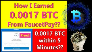 How To Earn BTC From Faucetpay Account
