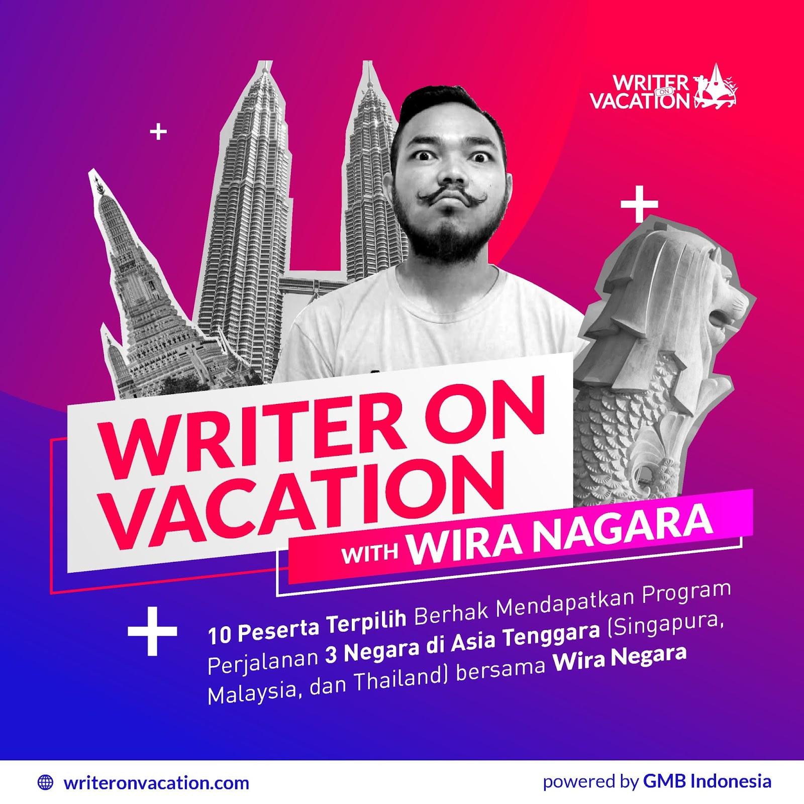 Lomba Menulis Puisi & Artikel Writer On Vacavation 2019 Untuk Umum