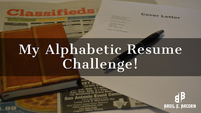 My Alphabetic Resume Challenge Part One: Introduction