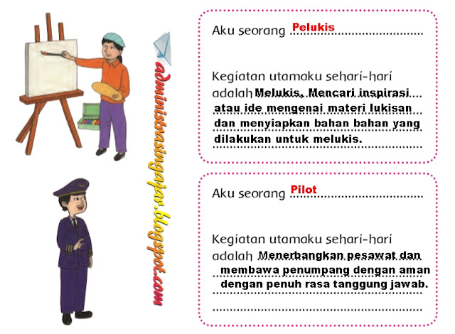 Kunci Jawaban Buku Tematik Tema 6 Kelas 4 Halaman 2 3 4 5 8 9 Administrasi Ngajar