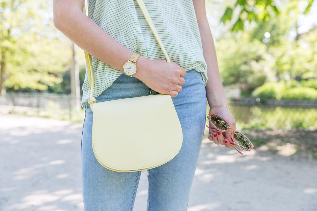 sac jaune pastel la redoute