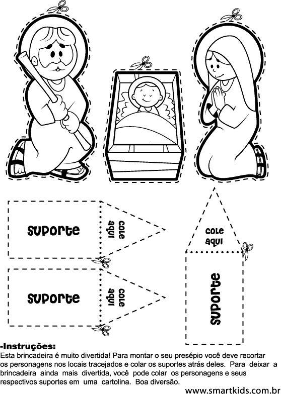 desenhos para desenhar um presépio