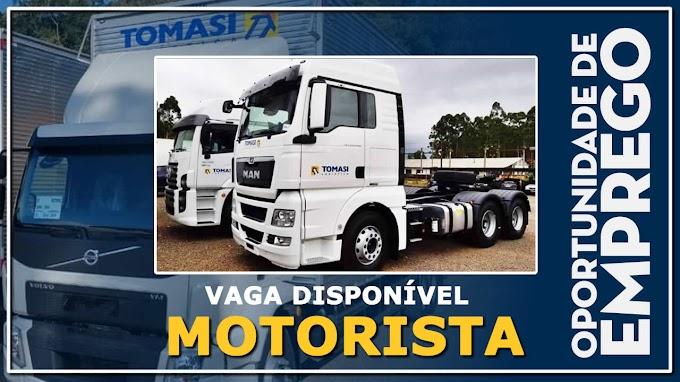 Transportadora Tomasi abre vagas para Motorista categoria C, D e E