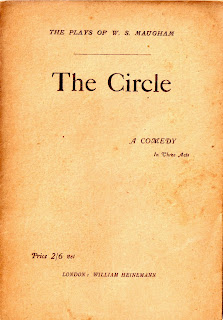 cover of the circle, a play by w. somerset maugham