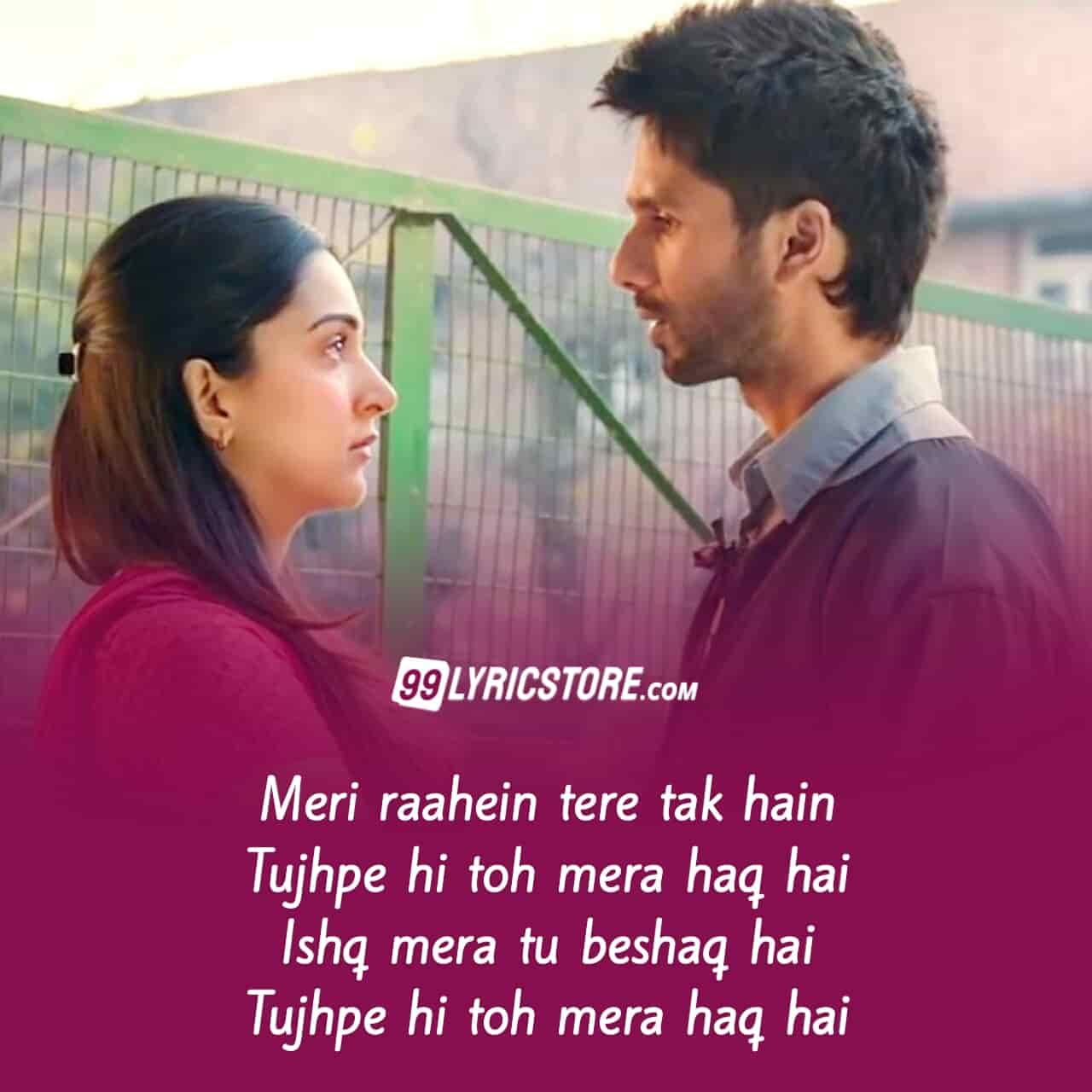 Tera Ban Jaanunga Hindi song Lyrics from movie Kabir Singh