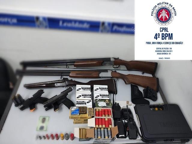 Polícia Militar apreendem armas e munições em Alagoinhas - BA