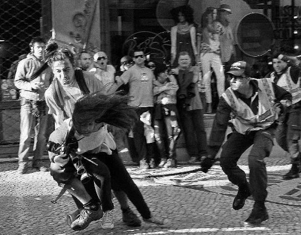Violência em Manifestação em Lisboa