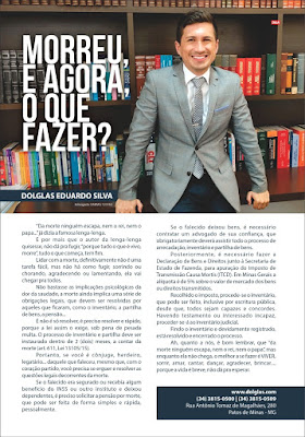 Matéria Revista Máxima Sandra Castro do advogado Dolglas Eduardo Silva sobre inventário