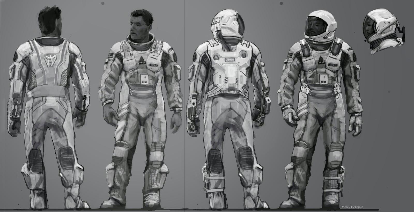 Wonderful INTERSTELLAR Spacesuit Concept Art by Romek ...