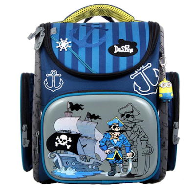 Delune 2019 New Cartoon School Bags Backpack for Girls Boys