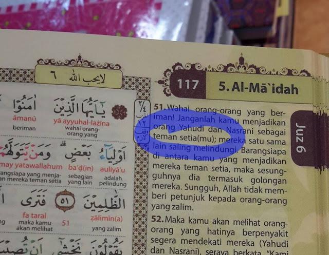 Sebarkan Fitnah Merubah Terjemah Al-Maidah 51, Admin Seuramoe Mekkah Dipolisikan