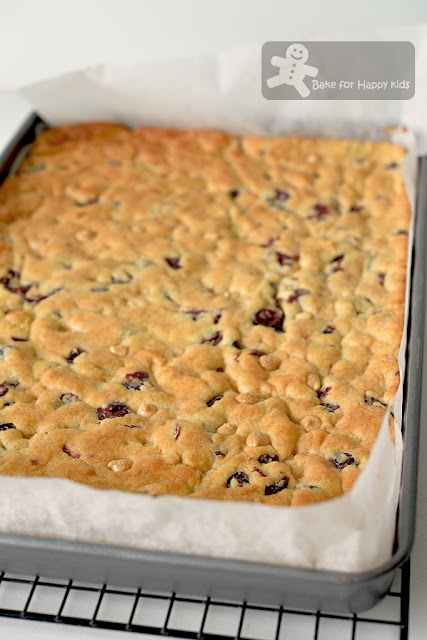 quick easy white chocolate dried cranberry cookie slices