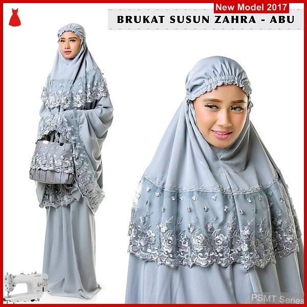 PSMT122A Mukena Dewasa Brokat Zahra Abu kw 1 BMG