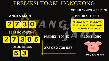 Prediksi Togel Angka Jitu Hongkong Minggu 15 November 2020