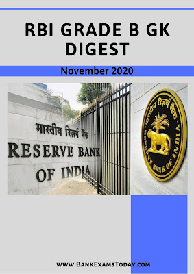 RBI Grade B GK Digest: November 2020