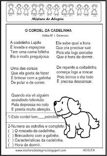 Cordel da cadelinha alfabetização