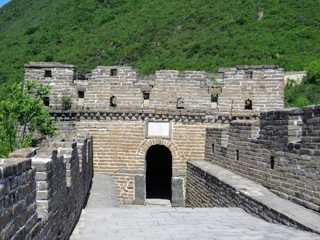 One of the guard towers on the Mutianyu section of the Great Wall of China