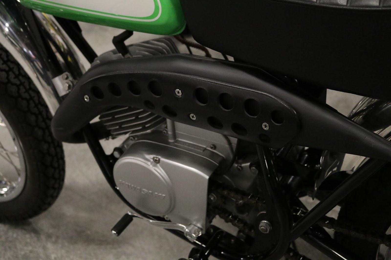 "1970 Harley Davidson Evel Knievel Tribute: OldMotoDude: 1970 Kawasaki 100cc Centurion ""Greenstreak"