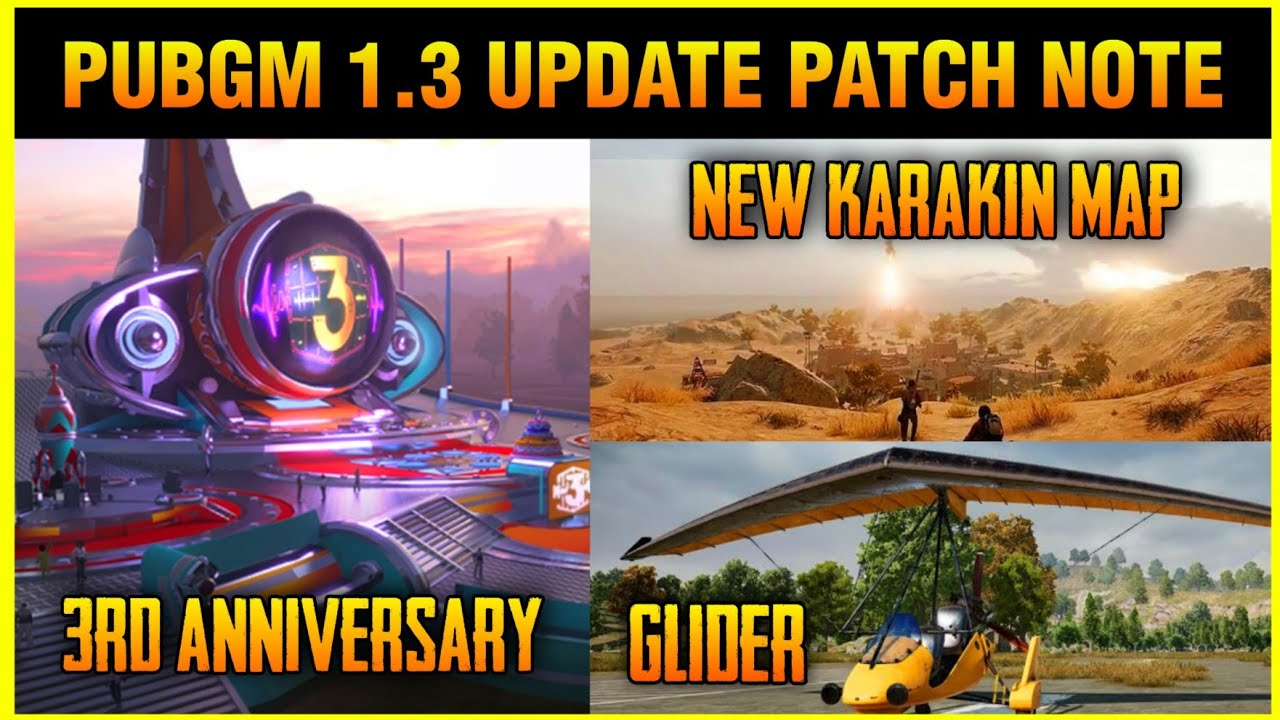 PUBG Mobile V1.3 upcoming Patch Notes