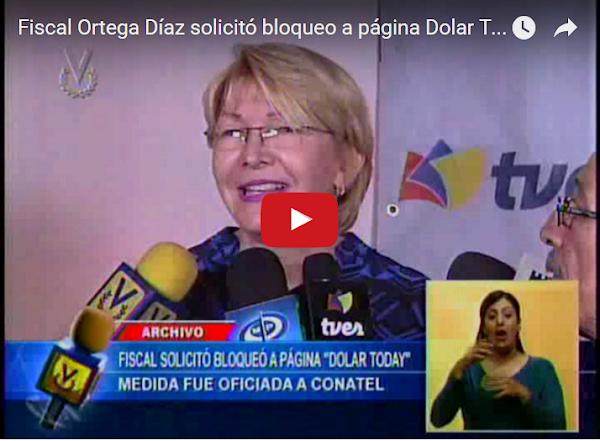 Fiscal Geneal ordena el bloqueo a DolarToday