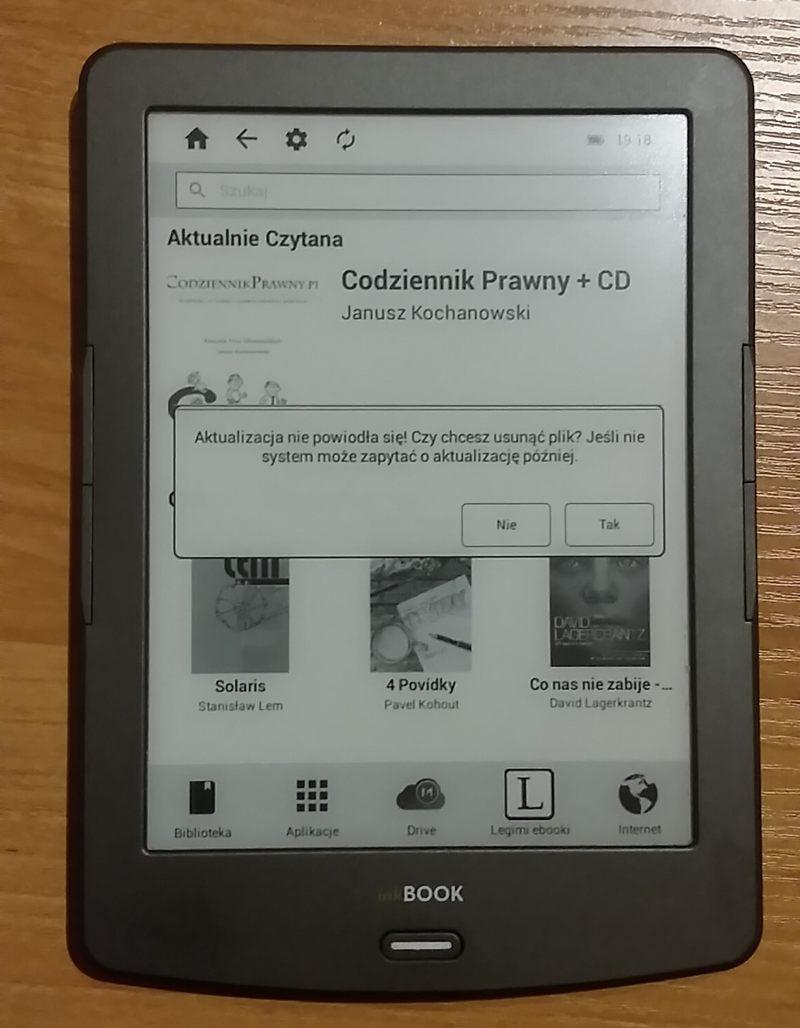 czytnik inkBOOK Classic 2 - zapytanie o aktualizację