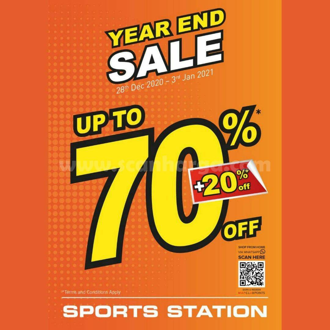 SPORTS STATION PROMO YEAR END SALE Up to 70%+20%