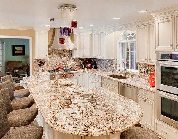 royal white granite kitchen countertop ideas - White Granite Kitchen