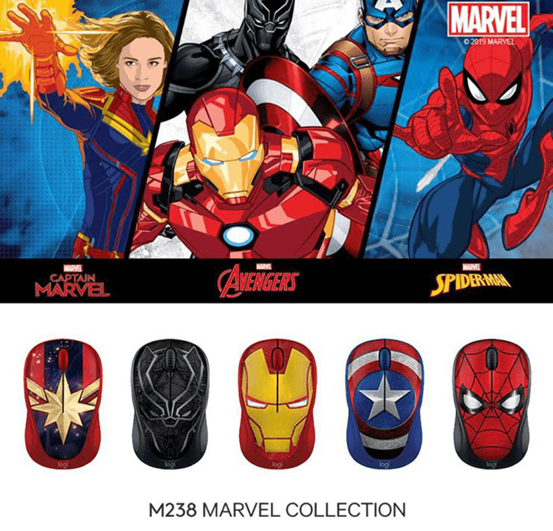 Here is the Logitech Marvel Mouse  collection