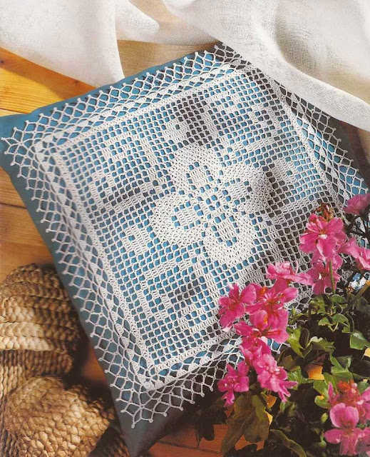 Cojin de Encaje a Crochet