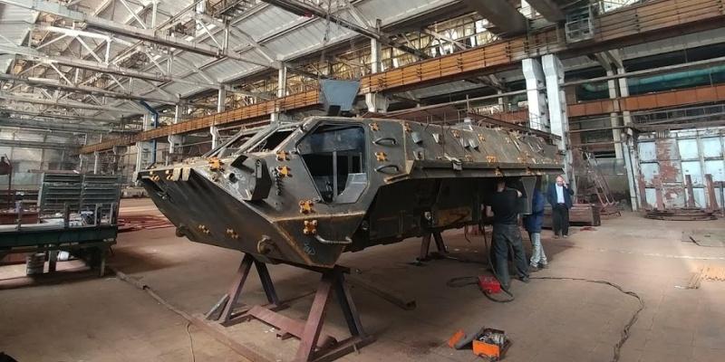 ЛКМЗ виграло тендер на постачання корпусів БТР-4