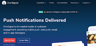 blue-site-homepage-of-onesignal-website