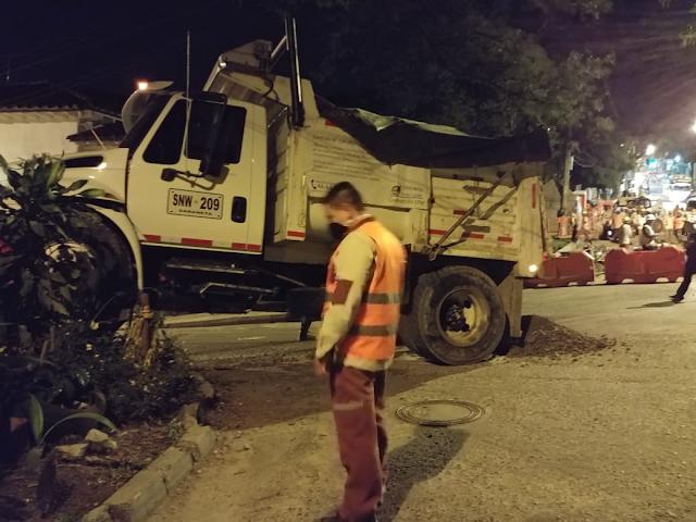 Accidente de volqueta consorcio Redes Iguaná